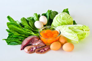 Group of foods with Vitamin B5(PANTOTHENIC ACID) isolated on whi