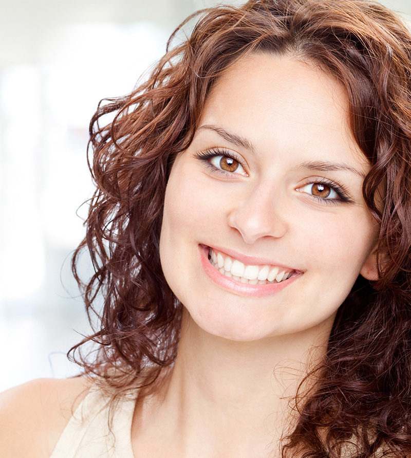 smiling teeth whitening patient
