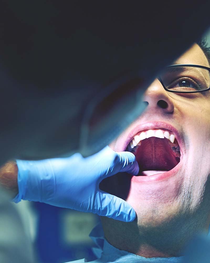 Patient receiving root canal treatment in Newbury